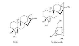 Image of a stevia molecule